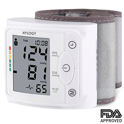 Tensiómetro de Muñeca- HYLOGY Totalmente Automático Presión Arterial y Detección de Pulso...