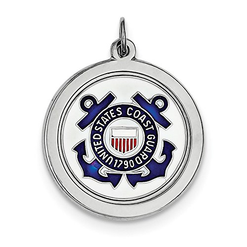 Sterling Silber rhod-plated US Coast Guard Disc