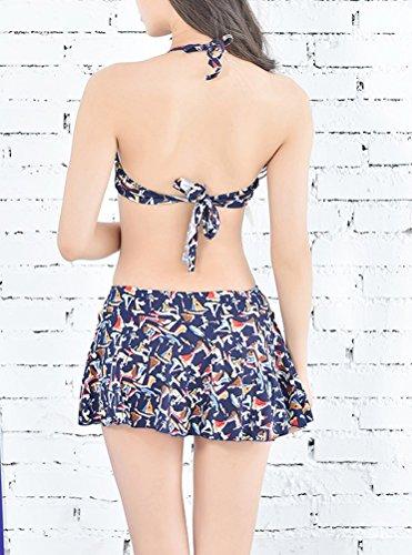 Arkind Damen Bikini-Set Bleu foncé B