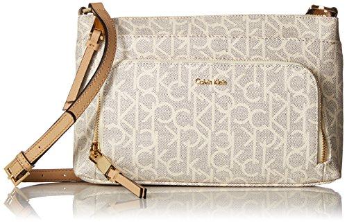 Calvin Klein womens Calvin Klein Hudson Top Zip Signature Crossbody Calvin Klein Hudson Top Zip Signature Crossbody
