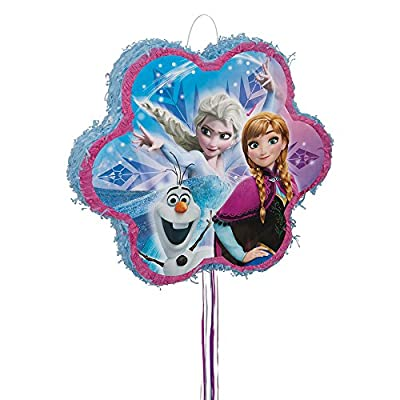 Unique Party 66004copo de nieve Disney Frozen piñata, Pull Cadena de Unique Party