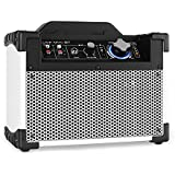 DJ-Tech Mini Cube BT Altavoz PA portátil bluetooth USB blanco