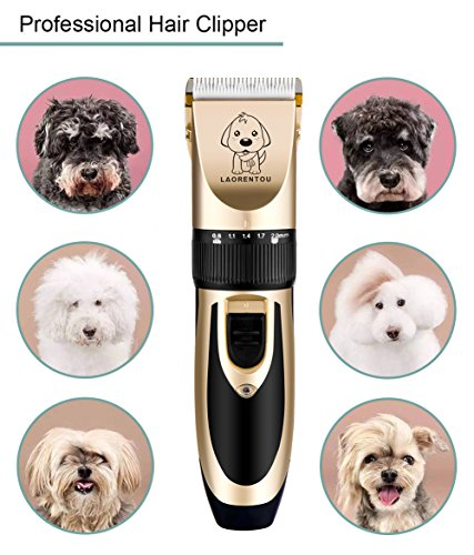 Dog Clippers, Professional Electric Cat Dog Grooming Clippers Kit with 4 Comb/Scissors/Nail File/Claw/Hair Clippers… 7