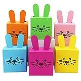 Papierdrachen 6 DIY Osterhasen Kisten zum selber Basteln und Befüllen - ein Geschenk von Herzen - zu Ostern - 6 bunte Boxen - Schachteln zur Dekoration