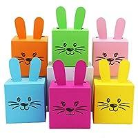 6 DIY Scatole coniglietti di Pasqua fai da te da riempire - un regalo che viene dal cuore - a Pasqua - 6 scatole colorate - Scatole per decorazione Questo set DIY (do-it-yourself) contiene tutto ciò che serve per ...
