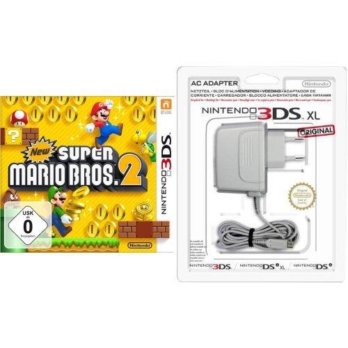 New Super Mario Bros. 2 & Nintendo 3DS / 3DS XL / DSi / DSi XL - Power Adapter - Xl Super Mario 3ds Bros Nintendo