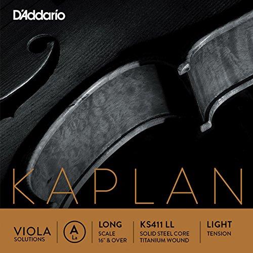 D'Addario KS411-LL Kaplan Viola Einzelsaite 'A' Titan Long Light