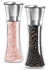 Idea Regalo - Newyond acciaio inossidabile pepe e sale Mill Grinder Set (2ps Pepper Mills)