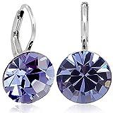 Ohrringe mit Kristallen von Swarovski Silber Lila Damen NOBEL SCHMUCK