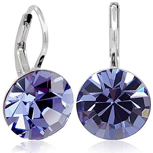 Ohrringe mit Kristallen von Swarovski® Silber Lila Damen NOBEL SCHMUCK