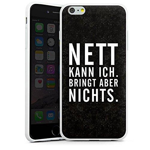 Apple iPhone X Silikon Hülle Case Schutzhülle Nett Leben Humor Silikon Case weiß