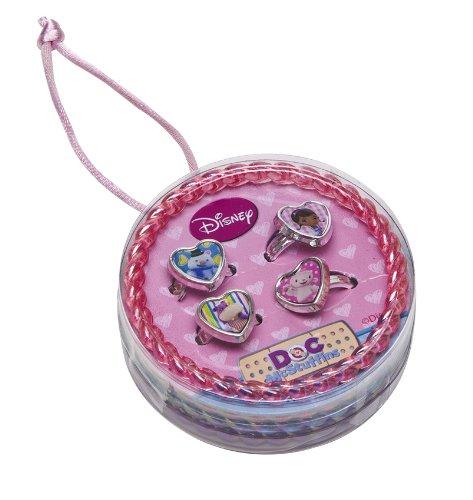 Joy Toy 116020 - Disney Doc McStuffins Set mit 4 Armreifen und 4 Ringen, 7 x 7 x 2.5 cm