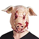 shoperama Horror Latex-Maske Blutiges Schwein