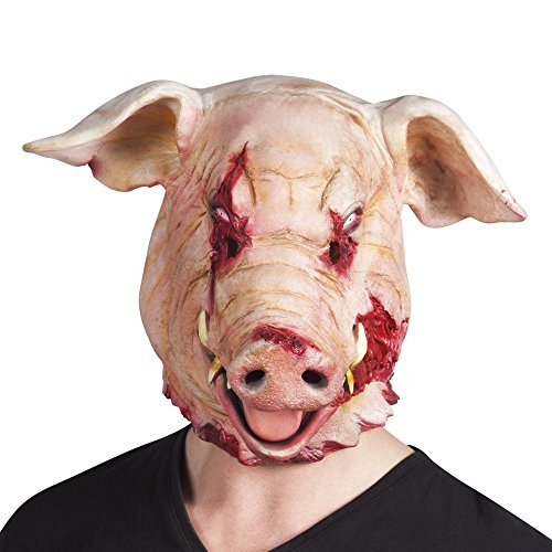 (shoperama Horror Latex-Maske Blutiges Schwein)