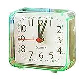 Chunyang Platz Kleiner Bett Wecker Transparenter Fall Compact Reisewecker Mini Muten Kinder Studenten Schreibtisch Uhr