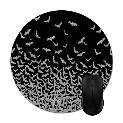 Halloween Bats on Black Mouse Pad -Office Gaming Desktop Accessory