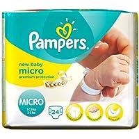 Couches Pampers New Baby Taille 0Étui de transport Lot de 24de 8Total 192couches