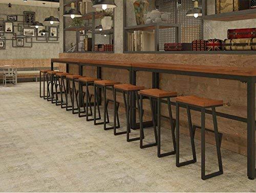 MJY Kreative schmiedeeiserne hohe Schemel-Barhocker, feste hölzerne Barhocker-Café-Ausgangsfrontbank-beiläufige Schemel-Höhe,38 * 36 * 85CM, -
