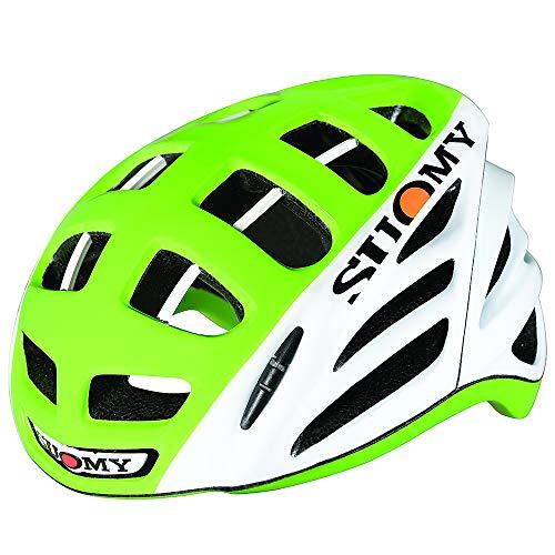 Suomy Casco bici strada Gun Wind HV High-Visibility bianco / lime taglia M (Caschi MTB e Strada) / Road racing helmet Gun Wind HV High-Visibility white / lime size M ( Mtb and Road Helmet)