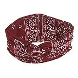Frauen Sport Stirnband Kopfband Haarband Turban Elastische Weiche Stirnband Blume Muster Bedruckt Anti Rutsch elastische Schweißband absorbierende Feuchtigkeit für Alltag Yoga Sport Fitness