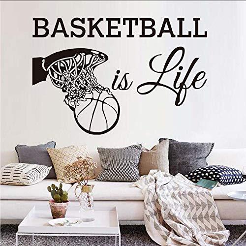 l Ist Leben Wandtattoos Sport Fans Vinyl Abnehmbare Wohnkultur Basketball In Den Korb Wandaufkleber Für Jungen ()