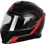 Herkunft Helmets 204271727100105Delta Motion matt Klapphelm mit Integrierter Bluetooth, Rot, L