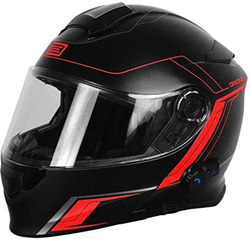 Herkunft Helmets 204271727100104Delta Motion matt Klapphelm mit Integrierter Bluetooth, Rot, M