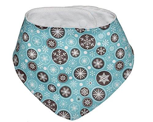 Schneeflocken Lätzchen Halstuch, passt im Alter von Neugeborenen auf 24 Monate. (Baby Weihnachten Passt)