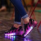 SGoodshoes Kinder Junge Mädchen Led Schuhe Mit Rollen Herren Skateboard Rollschuhe Damen mit ein Rad 7 Farbe Farbwechsel Sneaker -