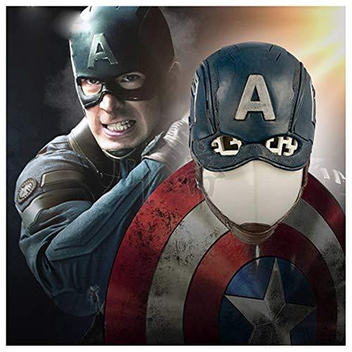 GZYTY Captain America Los Helmhaube Latex Maske Halloween Filmrequisiten,OneSize (Frauen Wrestling Kostüme)