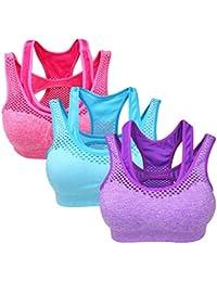 Yolev Sport BH Yoga BH starker Halt Gepolstert ohne Bügel
