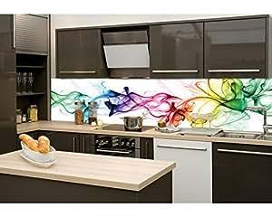k chenr ckwand folie selbstklebend rauch 260 x 60 cm klebefolie dekofolie spritzschutz f r. Black Bedroom Furniture Sets. Home Design Ideas