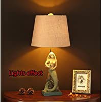 E27 Resina Mermaid lampada da tavolo da