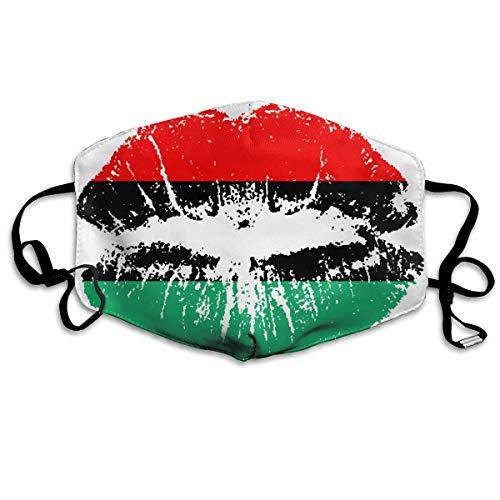 American African Heritage Flag Lippen, staubdicht, Ohrschlaufen-Mundmaske, für Frauen, Männer, Anti-Flu, Pollen, Keime, Malerei, Outdoor Halbgesicht, Mundschutz – Anti-Allergene