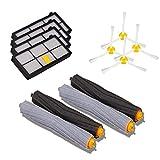 Tonsee 4 x 800 Seitenbesen + 4 x 800 Serie HEPA Filter für iRobot Roomba 800/900 Serie 870 880 980 Vakuum Reinigung Roboter