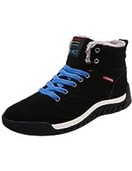 Meedot Hombres Invierno Botas - Hombre Zapatos Ocio Nieve Botas Casual Al aire libre Botas Zapatillas Con cordones Botas Entrenadores 39-46