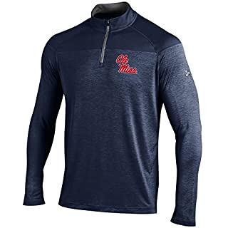 Under Armour UA Tonal Twist NCAA Men's Tech 1/4 Zip Tee, Navy, XX-Large