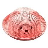 Fuibo Sommerhut, Sommer Baby Cartoon Kinder Breathable Hut Strohhut Kinder Hut Junge Mädchen Hut Kappe| Kinder Kappe Fischerhut Schirmmütze Strohhut (Watermelon Red)