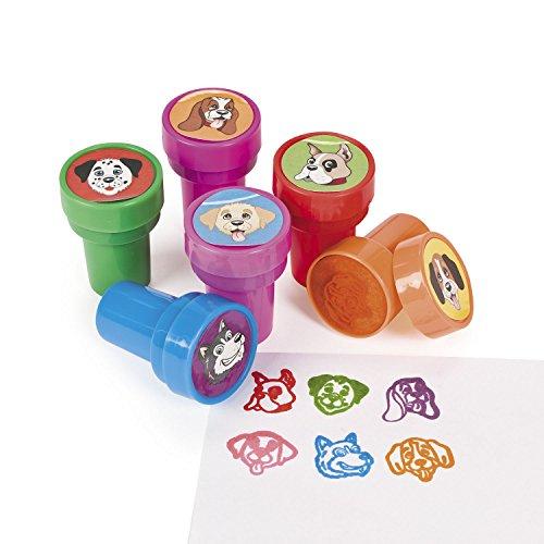 cama24com Kinderstempel Hunde Hundeköpfe in 6 verschiedene Motiven Palandi®