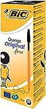 BIC Orange Original Fine Ballpoint Pen - Black, Pack of 20