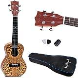 24'' Spruce Ukulele Uke Hawaiian Guitar Musical Insturment Brown