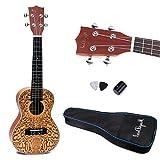 Generic 24'' Spruce Ukulele Uke Hawaiian Guitar Musical Insturment Brown