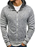 BOLF - Sweat-Shirt Zip Capuche Sport Homme - J.Style AK28 Gris M [1A1]