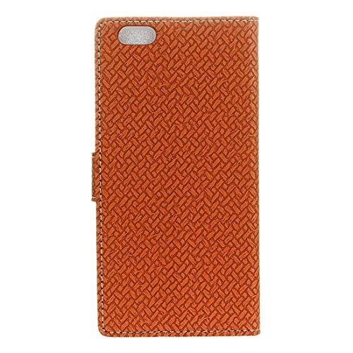 Phone case & Hülle Für iPhone 6 Plus / 6s Plus, Weaving Texture Horizontale Flip PU Ledertasche mit Magnetschließe & Halter & Card Slots & Wallet & Photo Frame ( Color : Grey ) Brown