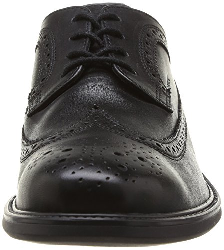 Geox  UOMO CARNABY C, Chaussures de ville à lacets pour homme Noir (Black)