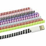 Rancco 8 pcs protecteurs économiseur de câble de chargement/câble manches, 50 cm universel spirale Serre-câble Wrap sur cordon Saver protecteurs pour charger/casque/câble de données