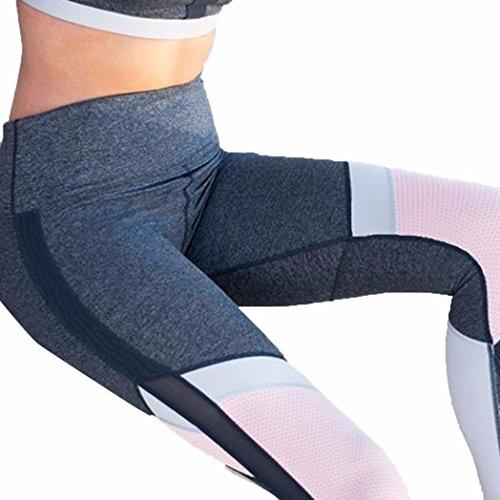 Heiß ! Laufende Hosen,Yanho Frauen zerquetschten Samt Set Neue Hohe Taille Frau Sport Fitnessstudio Yoga Trainieren Mitte Taille Laufhose Fitness Elastische Leggings (Schwarz, XL) (Taille Mitte Elastische)