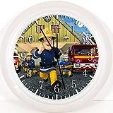 Feuerwehrmann Sam Wanduhr 25,4cm Nice Geschenk und Raum Wand Decor w239