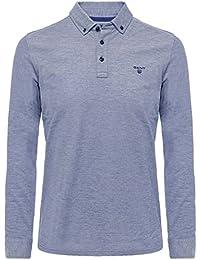 Gant Hommes polo chemise à manches longues oxford Persan Bleu