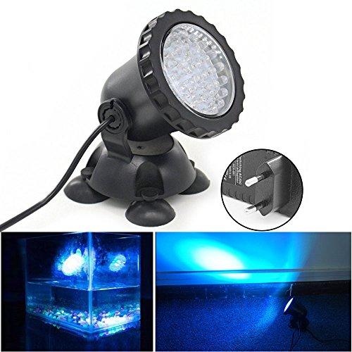 Foto de Xcellent Global Foco de 3.5W 36 LED sumergible para acuario Punto de luz para estanque de jardín, estanque, fuente, rocalla (AZUL) M-LD105
